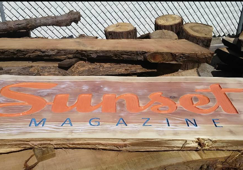 Sunset Magazine Custom Sign