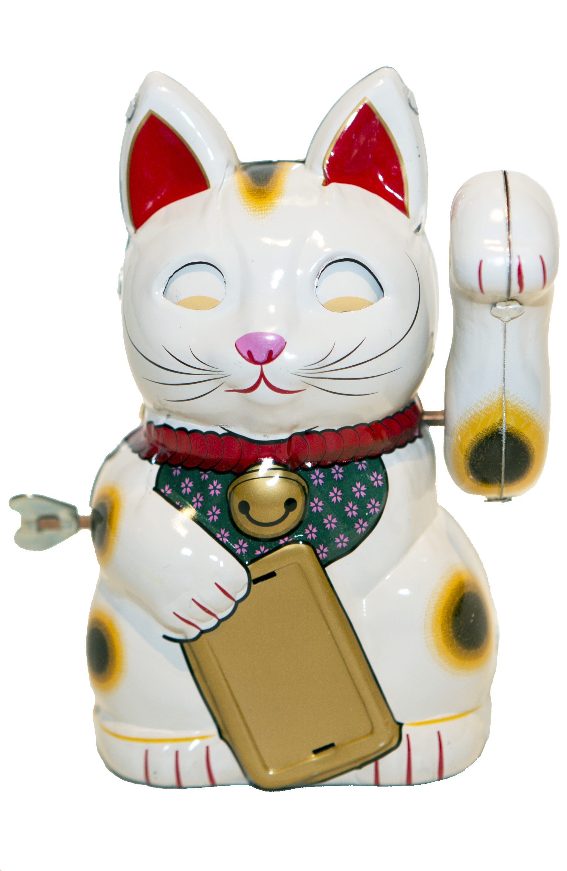 BECKONING WHITE CAT WIND-UP