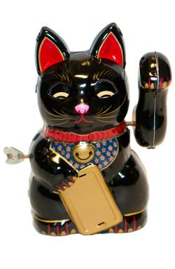 BECKONING BLACK CAT WIND-UP