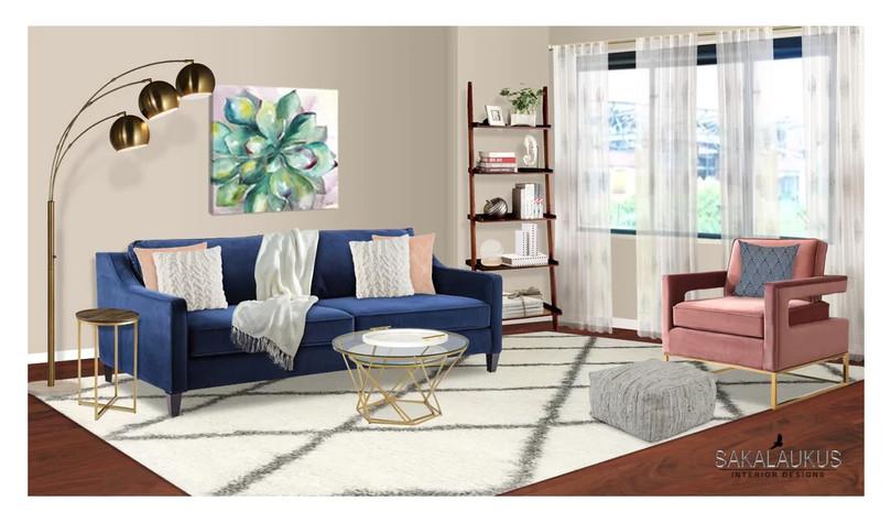 Living Room Designed with Wayfair