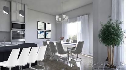 Modern Dining Room Render
