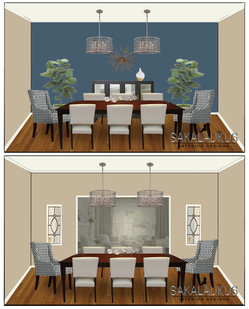 Dining Room w/ Blue Wall