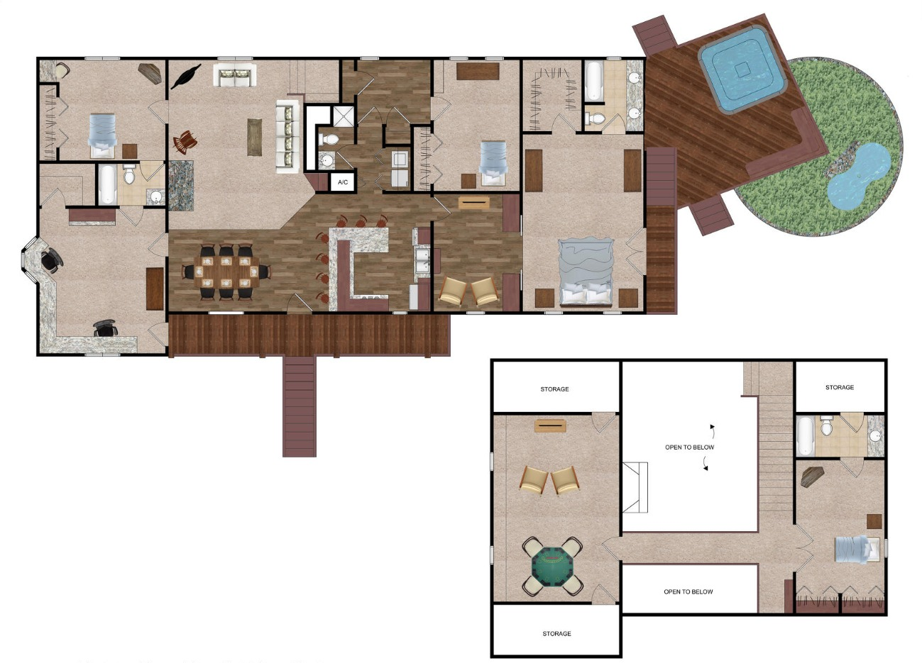 Waveland Floor Plan Render