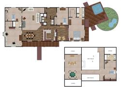 Waveland Floor Plan Render