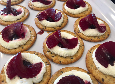 Beet and Chevre Canapes