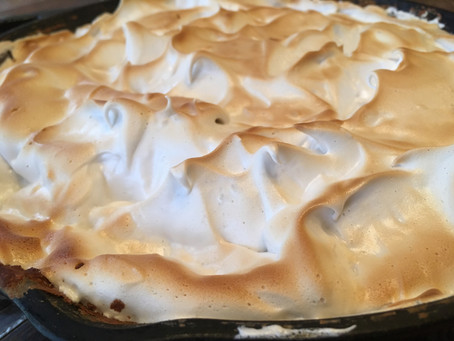 Peach Cobbler with Toasted Meringue