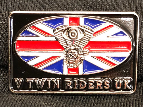 V Twin riders Pin Badge