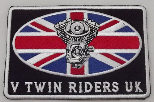 V TWIN RIDERS UK PATCH