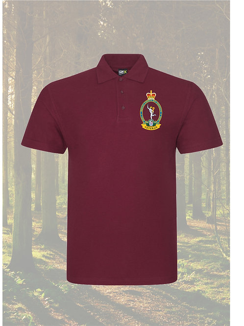 Royal Signals Polo shirt Veterans 100 years with Text option.