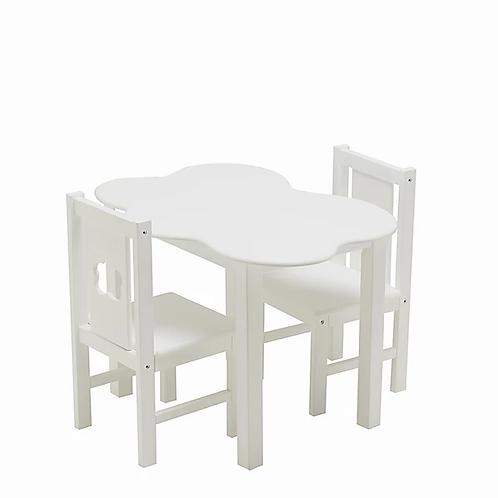 Conjunto Mesa + 2 Cadeiras Nuvem Madeira Faia