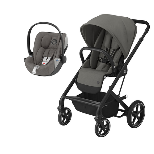 Conjunto Passeio Cybex Duo Balios S Lux Black S.Grey+Cloud Z iSize Plus S.Grey