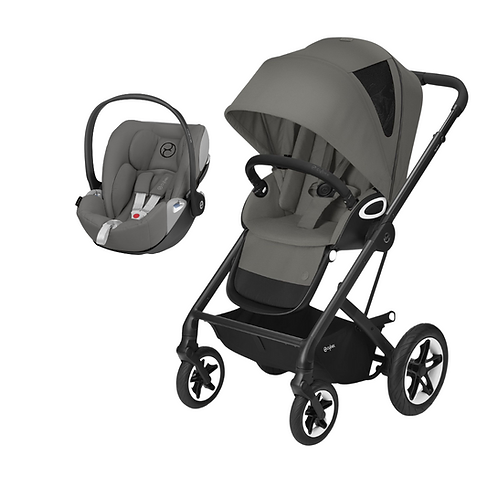 Conjunto Passeio Cybex Duo Talos S Black Soho Grey+ Cloud Z iSize Soho Grey