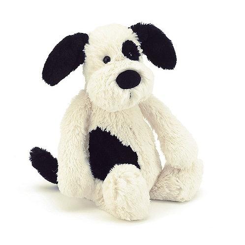 Peluche Bashful Black & Cream Puppy