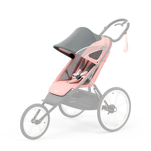 Cybex Chassi Preto Com Detalhe Rosa + Seat Pack