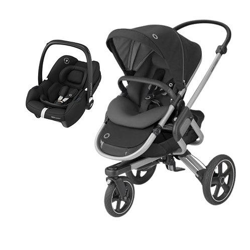 Bebé Confort Duo Nova 3 Rodas + Tinca Black