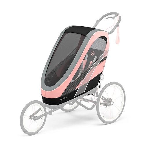 Cybex Chassi Zeno Preto Com Detalhe Rosa + Seat Pack