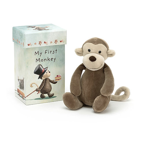 Peluche My First Monkey com Caixa Oferta