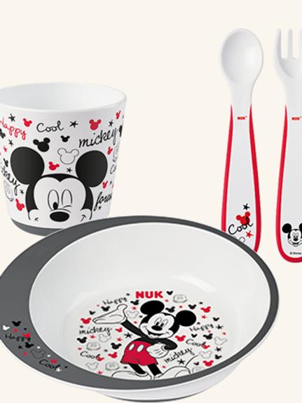 NUK Conjunto de Refeição Mickey 9M+