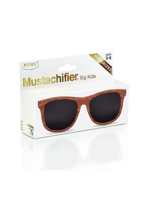 Mustachifier Óculos de Sol 3-6 Anos Gold Madeira