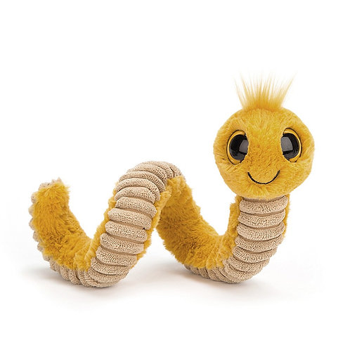 Peluche Wiggy Worm Yellow