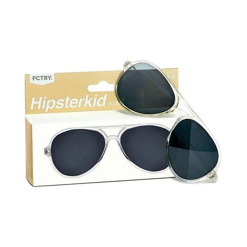 Mustachifier Óculos de Sol 3-6 Anos Aviador Gold Clear