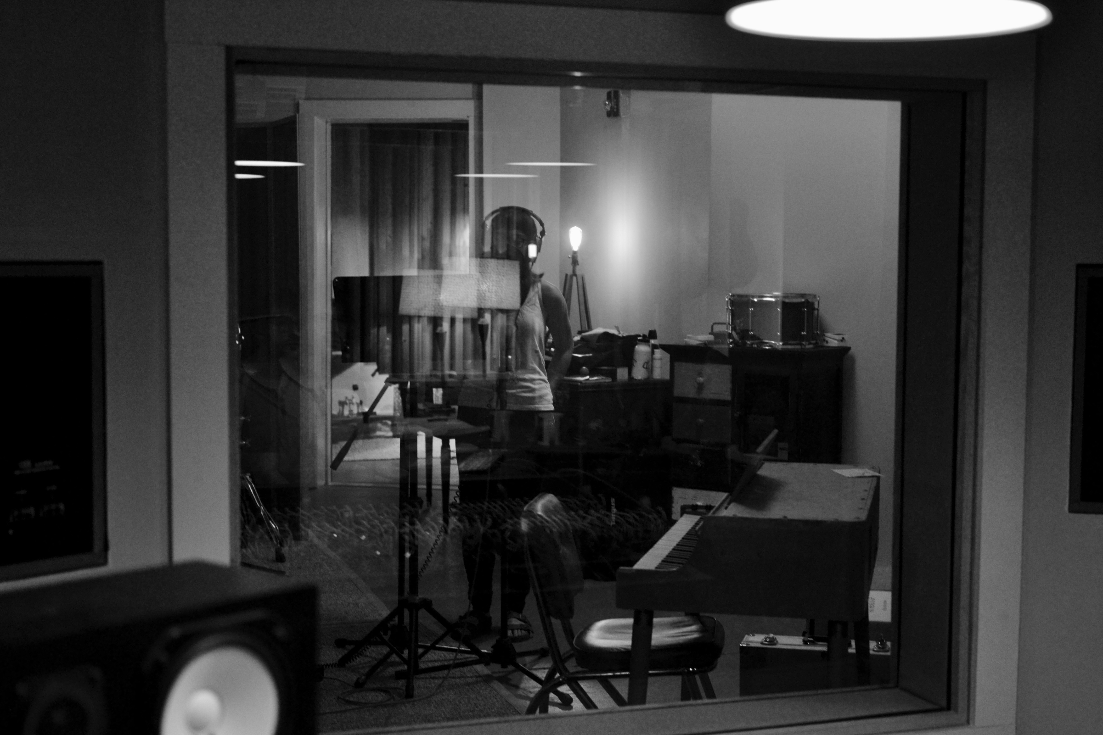 Sam in the studio