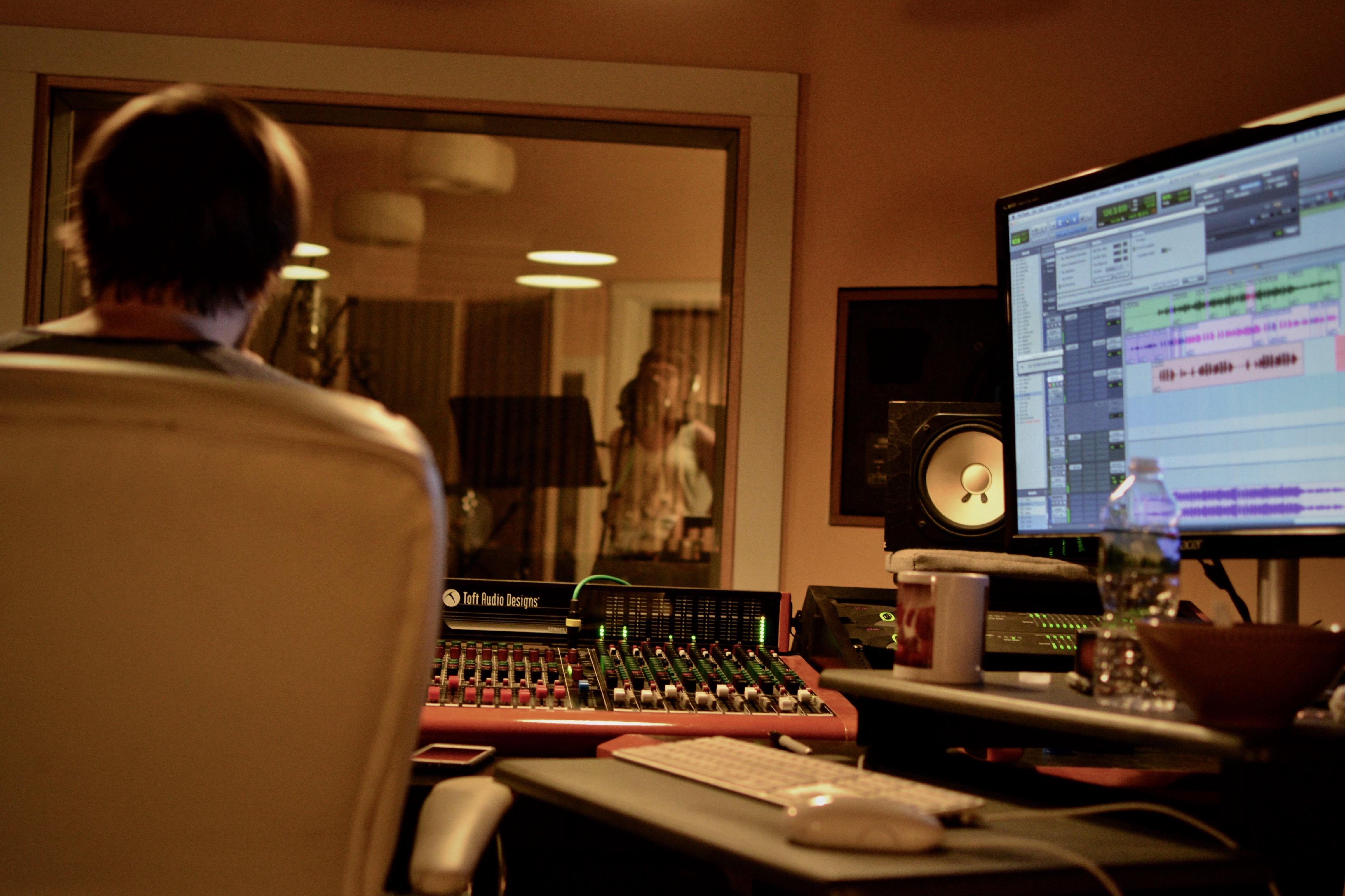 Mike recording Sam