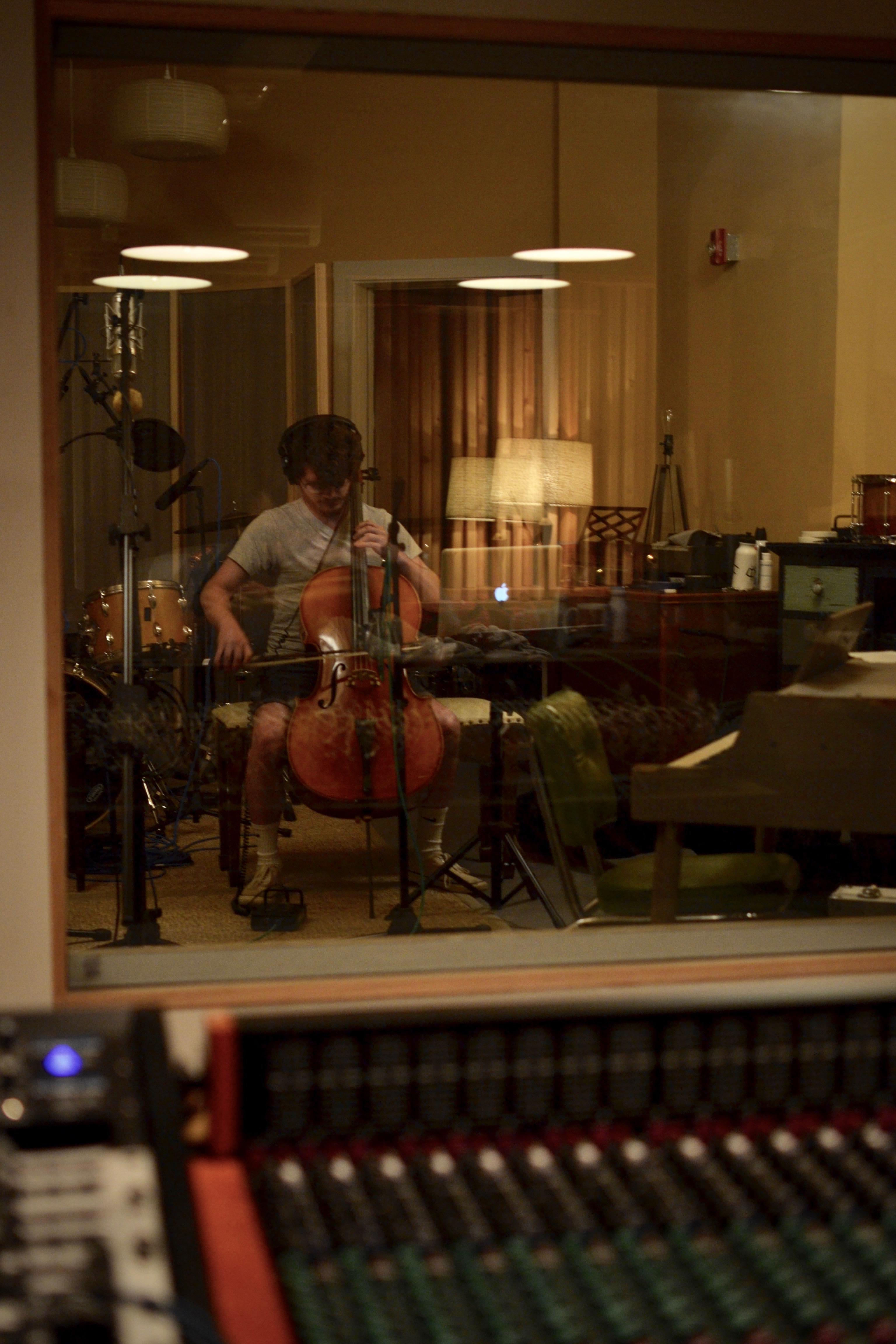 Connor on cello