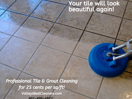 Tile and Grout Cleaning for 25 cents per sq/ft!