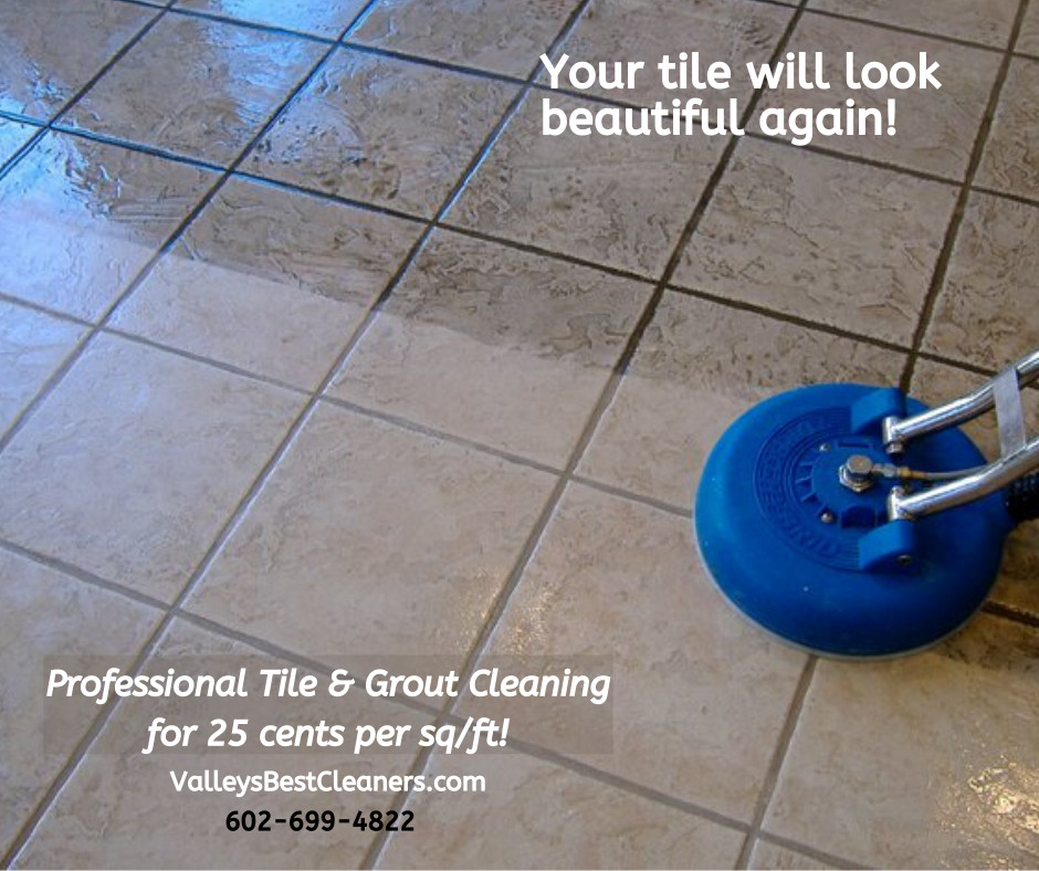 tile and grout cleaning in Peoria AZ by Valley's Best Cleaners