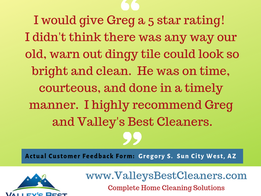 Another 5-star review for Valley's Best Cleaners!