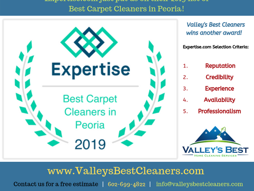 Another Carpet Cleaning Award for Valley's Best Cleaners