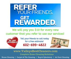 Customer referral bonus program