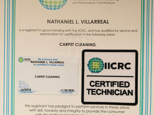 IICRC Certified Carpet Cleaning Service