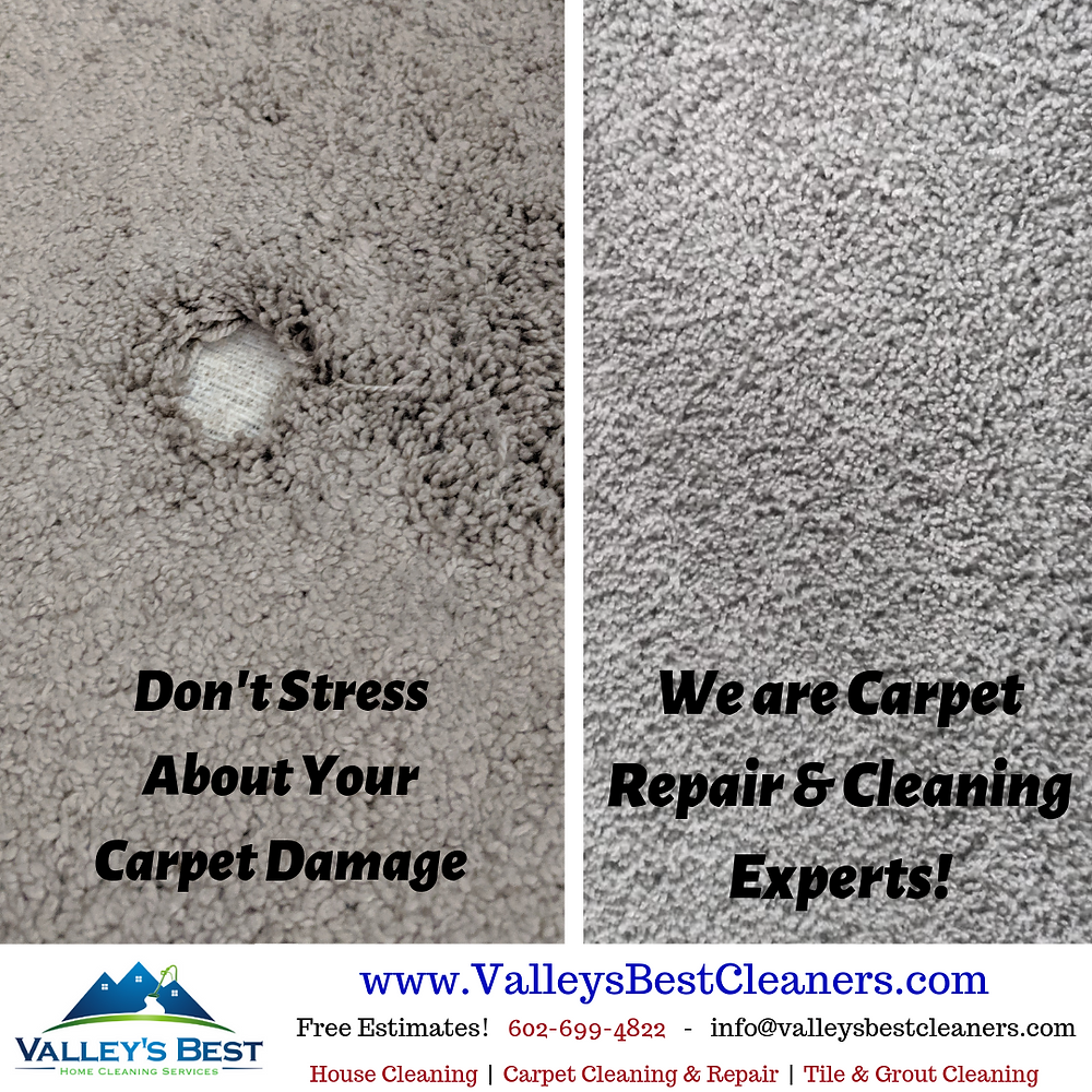 Before and after pictures of carpet repair services