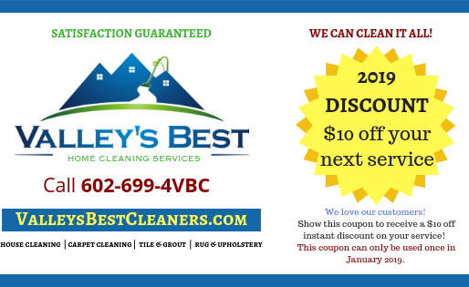 Start The New Year Off Right With a Cleaner & Healthier Home!  Get $10 Off Any Service in January!