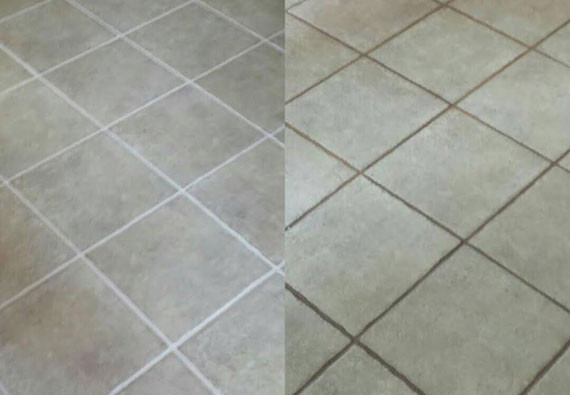 professional tile cleaning in peoria az - before and after pictures