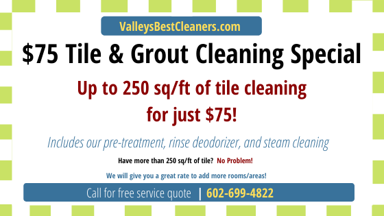 Tile Cleaning Coupon from Valleys Best Clean