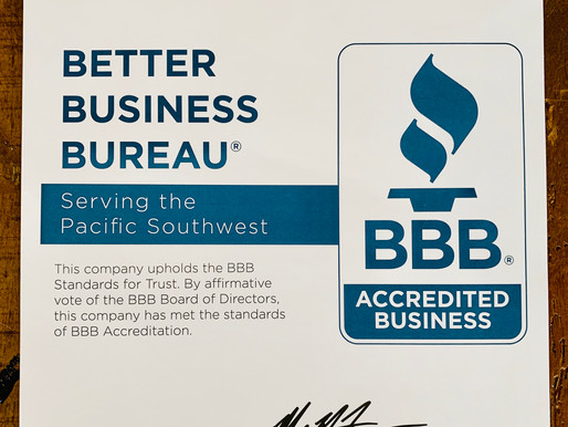 BBB Accredited For Peace of Mind