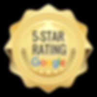 5-Star Google Reviews Badge