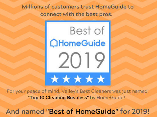 Valley's Best Cleaners just won another award for home cleaning services!