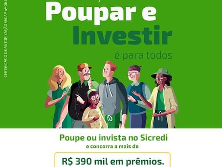Sicredi Centro-Sul MS lança promoção que distribuirá mais de R$ 390 mil em prêmios