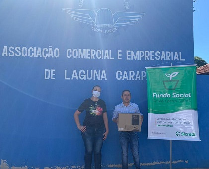 Sicredi Centro-Sul MS entrega mais uma doação do Fundo Social em Laguna Carapã