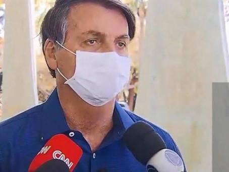 Jair Bolsonaro diz que testou positivo para covid-19