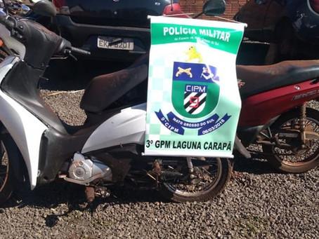 Polícia Militar de Laguna Carapã recupera motos furtadas