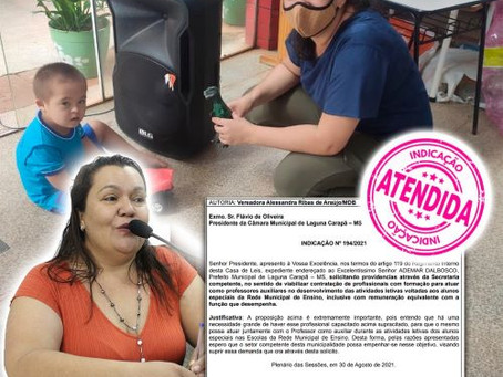 Vereadora Alessandra Ribas comemora indicação atendida