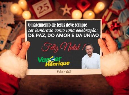 Vereador Vander Henrique deseja Boas Festas à população lagunense