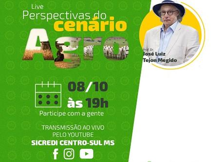 Sicredi Centro-Sul MS promove Live Agro com o professor José Luiz Tejon