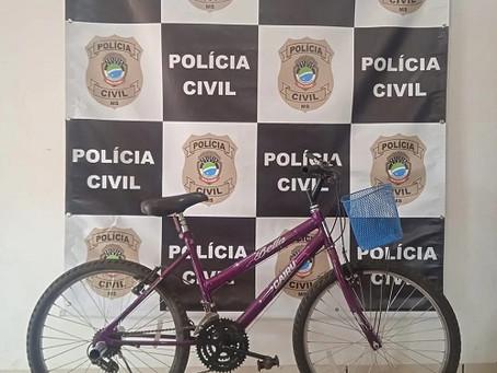 Polícia Civil de Laguna Carapã recupera bicicleta furtada