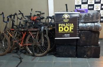 Seis bicicletas são apreendidas com maconha e skank em Laguna Carapã
